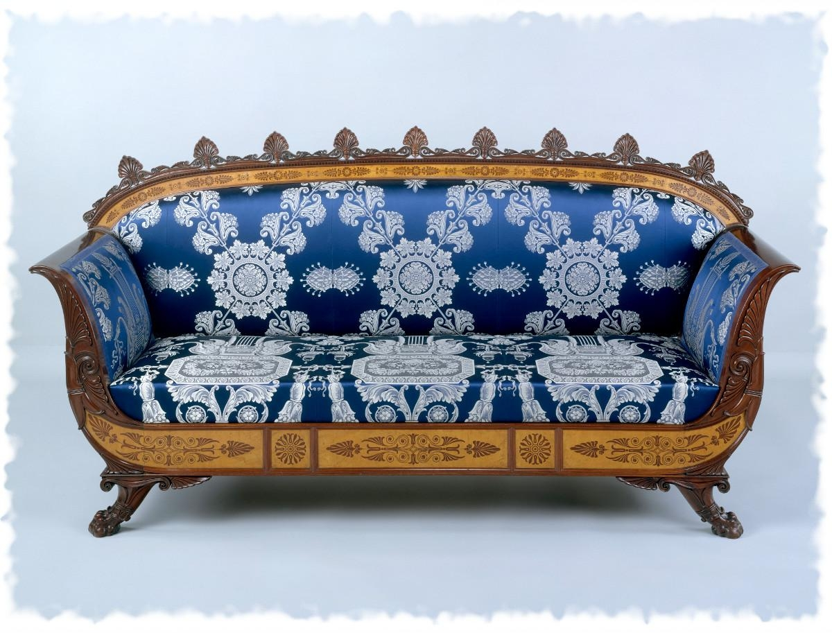 16 Stunning Sofas From The 18Th And 19Th Centuries – 5 Minute History Intended For Brocade Sofas (Image 1 of 20)