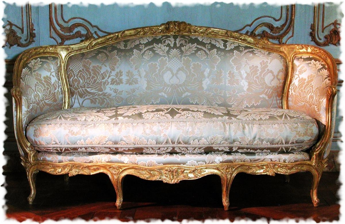 16 Stunning Sofas From The 18Th And 19Th Centuries – 5-Minute History within Brocade Sofas