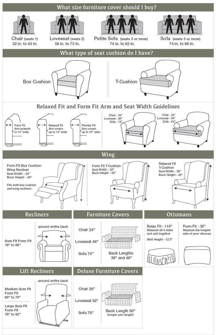 167 Best Sure Fit Slipcovers Images On Pinterest | Oversized Chair in Loveseat Slipcovers T-Cushion