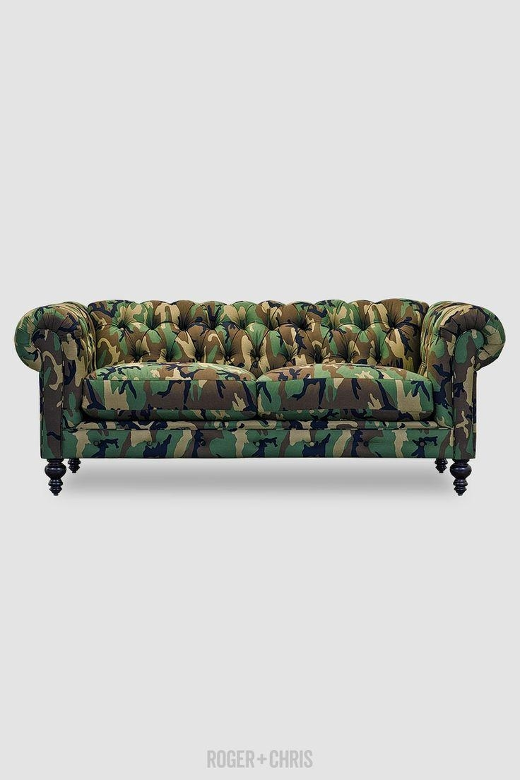 19 Best Chesterfield Mania Images On Pinterest | Leather Fabric Regarding Camouflage Sofas (View 18 of 20)