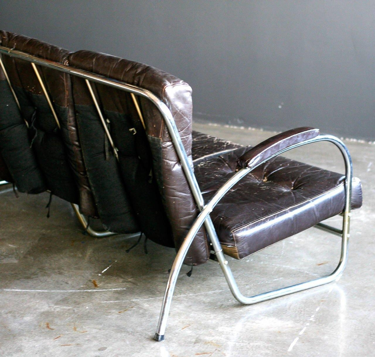 1930S Chrome Tubular Sofaroyal Metal Co, Usa For Sale At 1Stdibs Throughout 1930S Sofas (View 18 of 20)