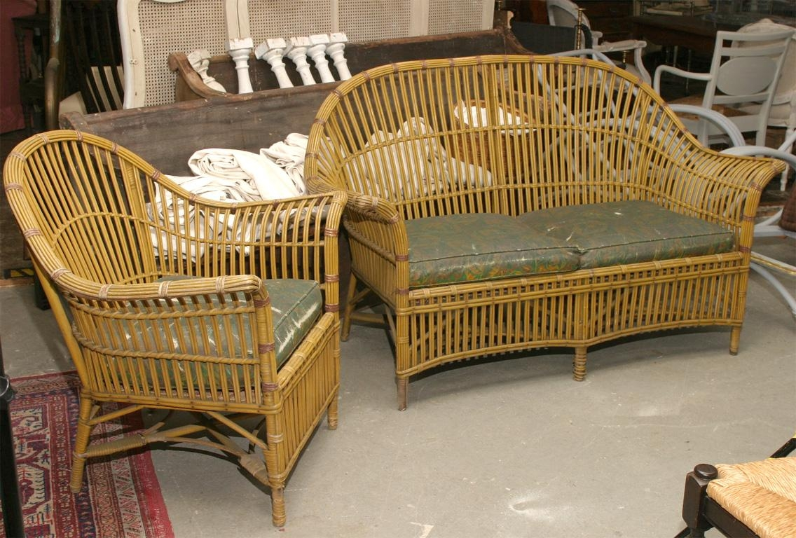 1930S Stick Wicker Sofa & Chair, Set | Omero Home inside 1930S Sofas