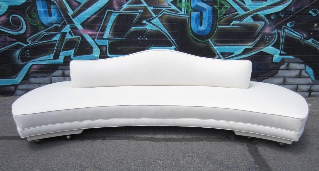 1960S Regency Style Ten-Foot Floating Cloud Sofa In Pure White At pertaining to Floating Cloud Couches