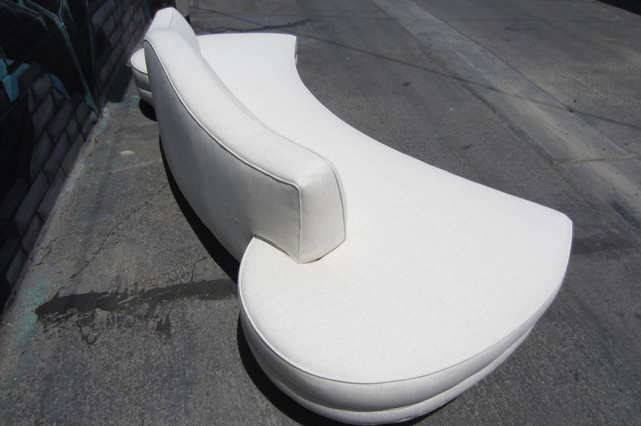 1960S Regency Style Ten-Foot Floating Cloud Sofa In Pure White At with Floating Cloud Couches