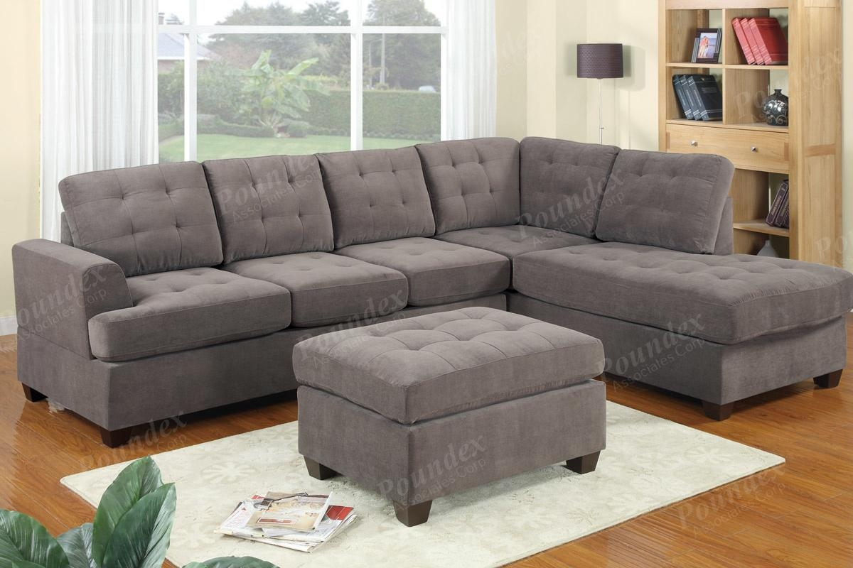 2 Pcs Sectional Sofa | Sectional Sofa | Bobkona Furniture For Poundex Sofas (View 14 of 20)