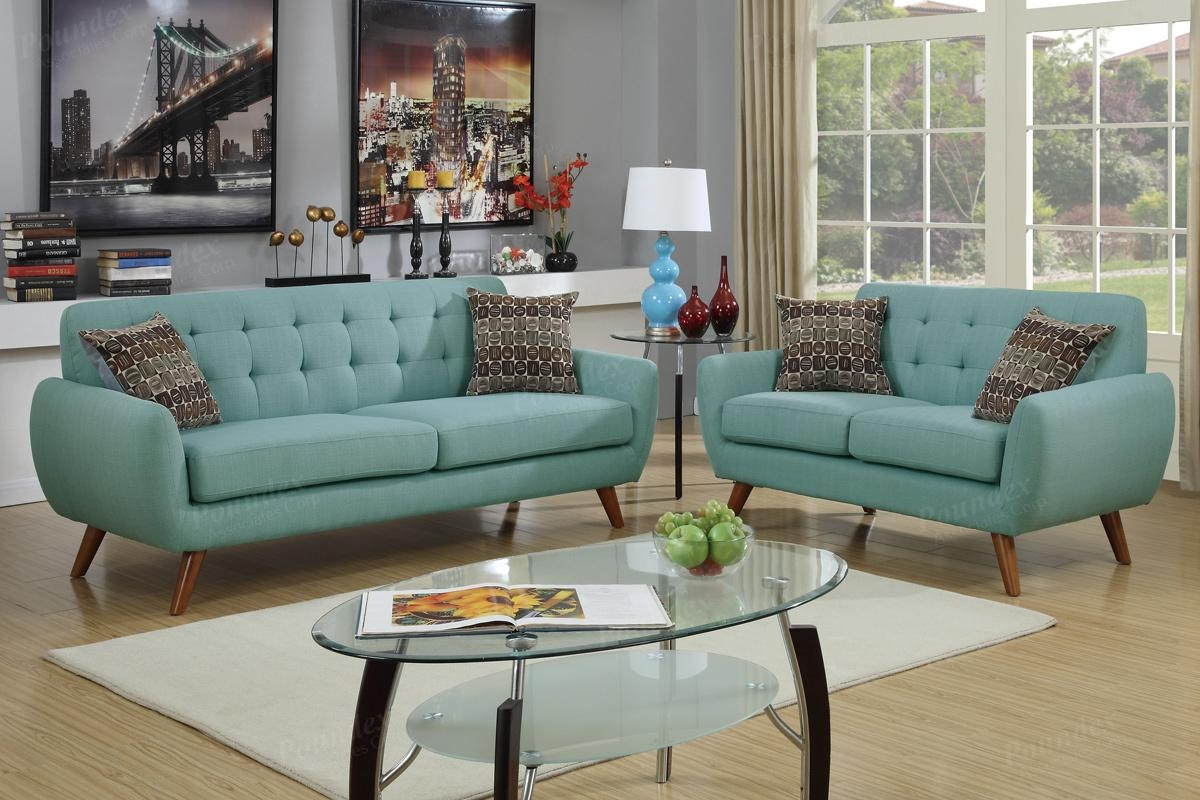 2 Pcs Sofa Set F6914 (4 Colors) – Silver State Furniture Pertaining To Retro Sofas And Chairs (Image 1 of 20)