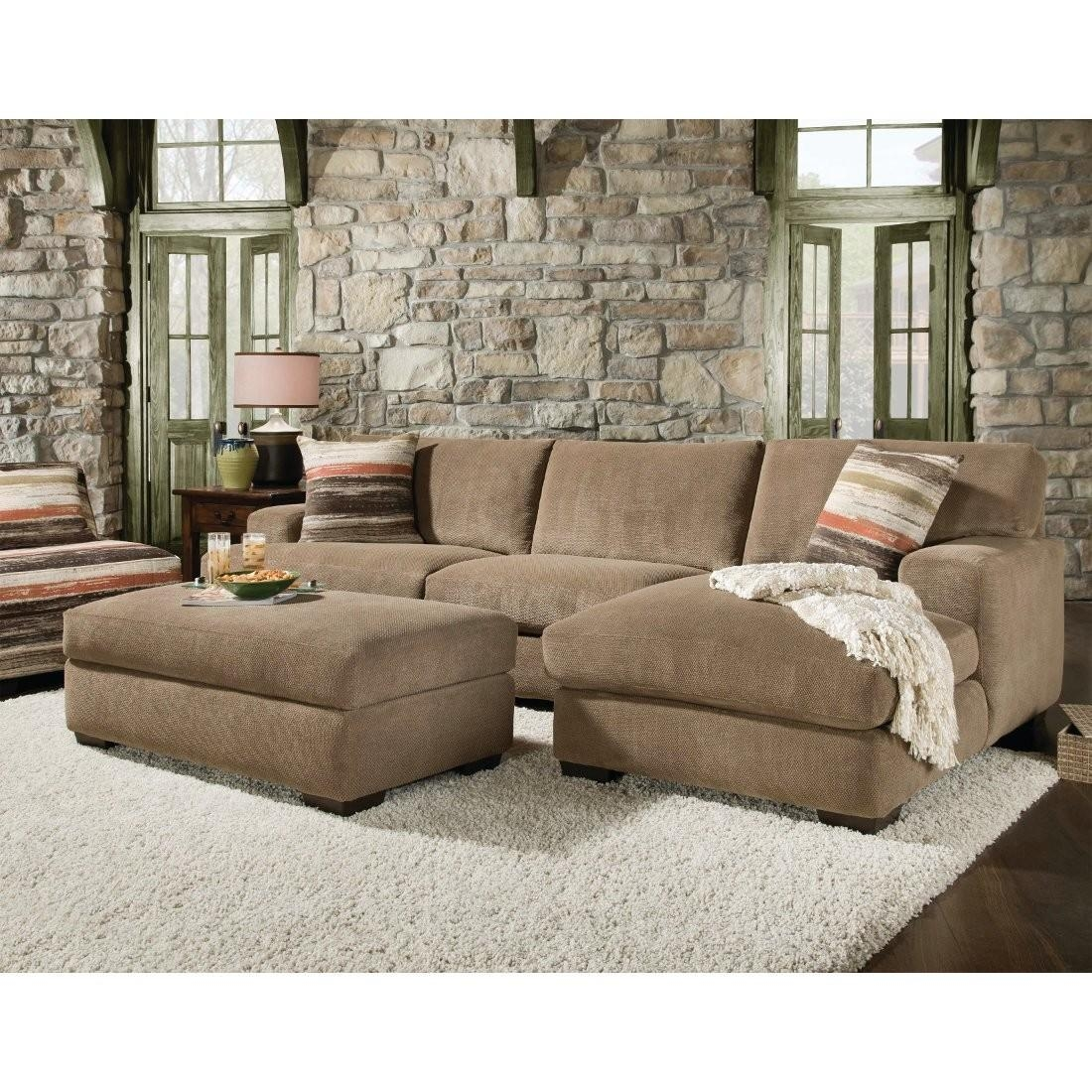 2 Piece Sectional Sofa With Chaise Design | Homesfeed Intended For Sectional Sofa With 2 Chaises (Image 4 of 20)