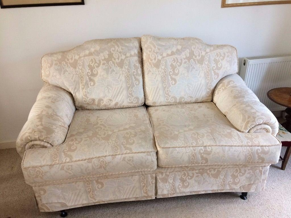 2 Seater Ivory Brocade Sofa Ideal For Bridal Shop | In Haywards with Brocade Sofas
