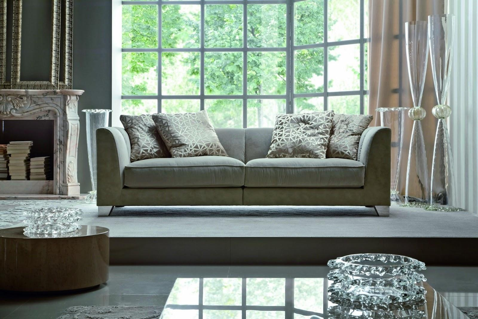 2013 Modern Living Room Sofas Furniture Design | Home Interiors For Elegant Sofas And Chairs (Image 3 of 20)