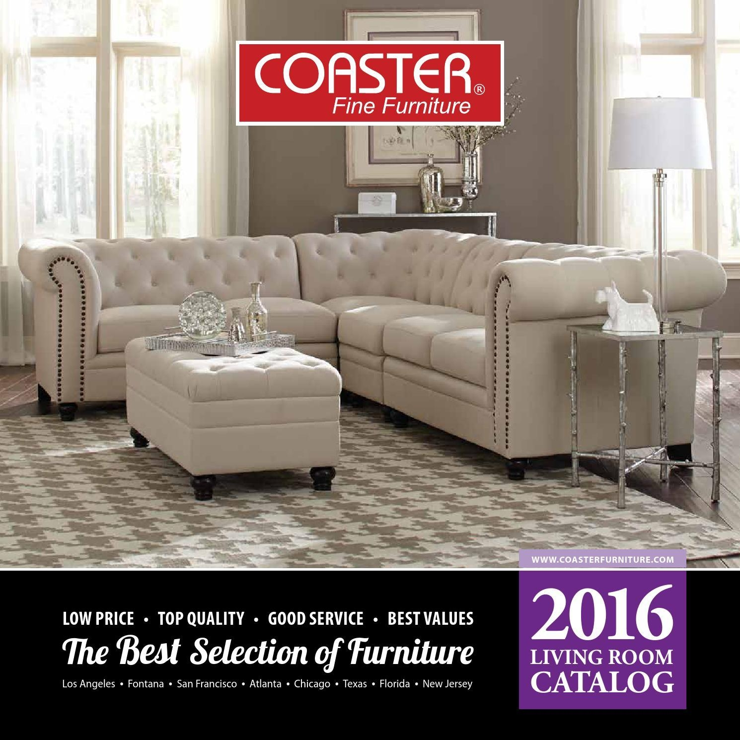2016 Living Room Catalogcoaster Company Of America - Issuu inside Coasters Sofas
