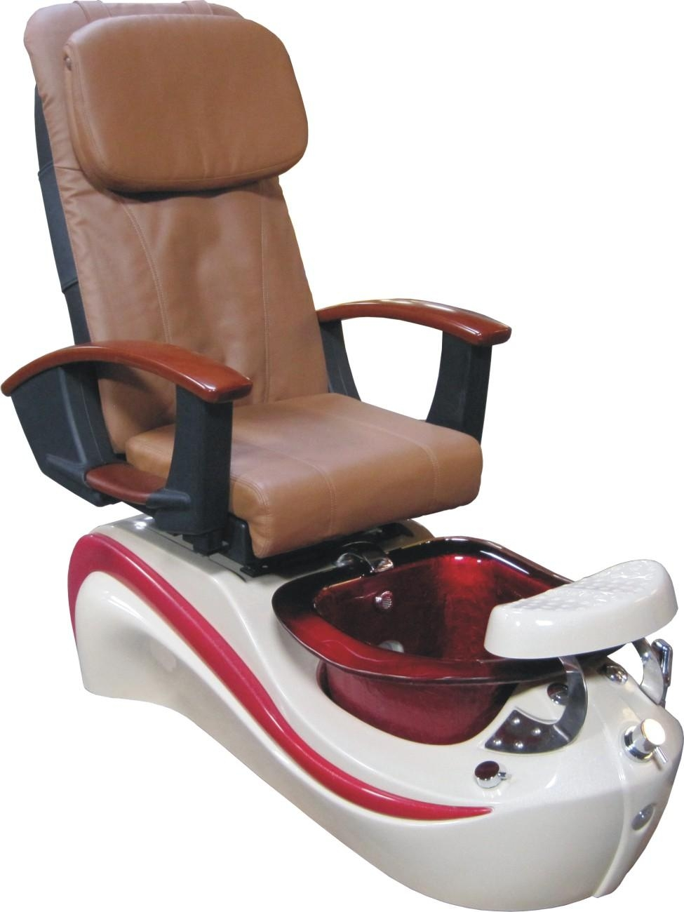 2016 Wholesale Cappuccino Pu Leather Spa Chair,t4 Style Used Throughout Foot Massage Sofa Chairs (Image 1 of 20)