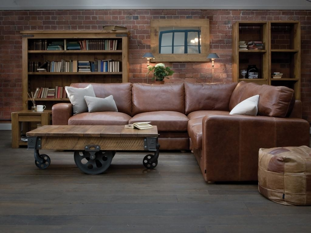 2017 Cheap Small Leather Corner Sofas For Sale With Recliners With Regard To Leather Corner Sofas (Image 1 of 20)