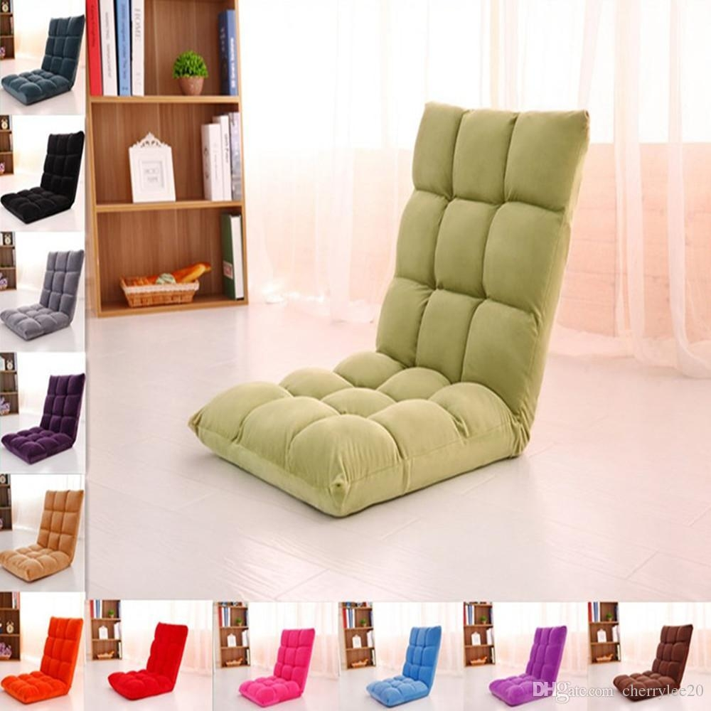 2017 Lazy Sofa Floor Cushion Sofa Chair Folding Beach Chair Gaming throughout Floor Cushion Sofas