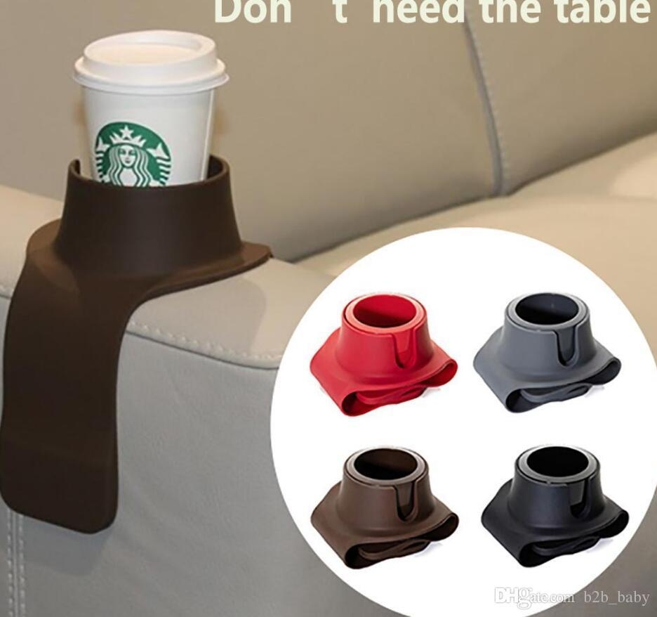 2017 Sofa Cup Holder Beverage Can Bottle Food Table Cup Mat Intended For Sofas With Drink Holder (Image 1 of 20)