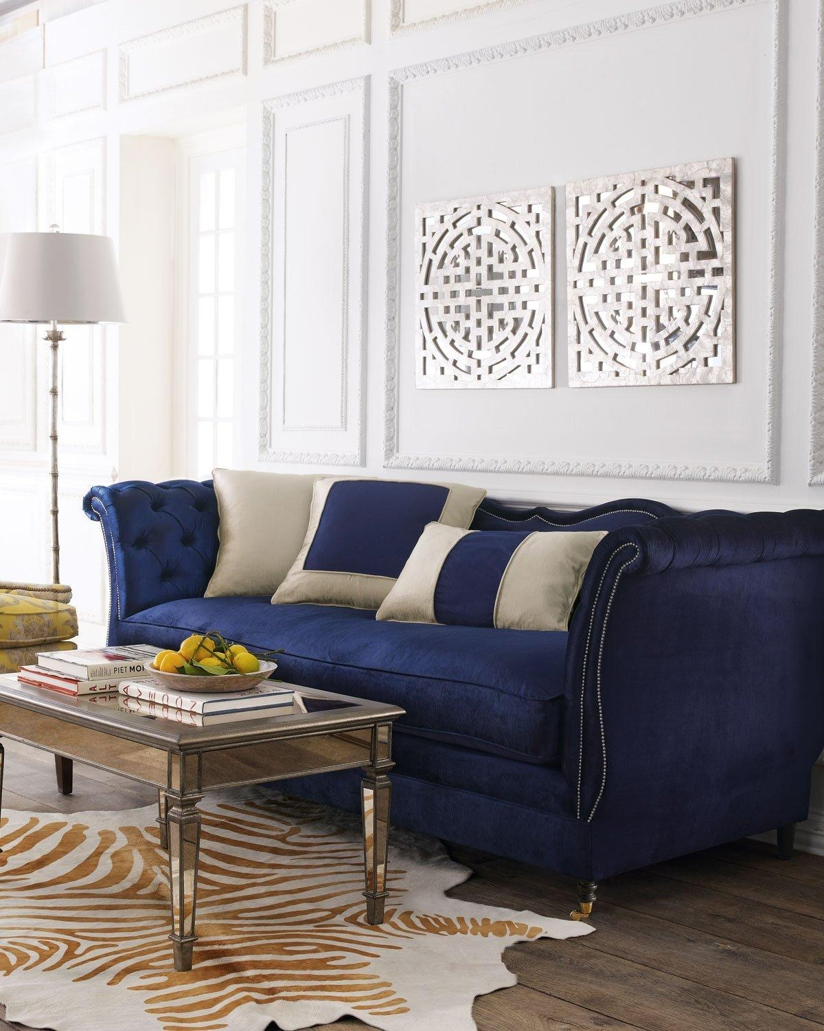21 Different Style To Decorate Home With Blue Velvet Sofa Inside Blue Velvet Tufted Sofas (Image 1 of 20)