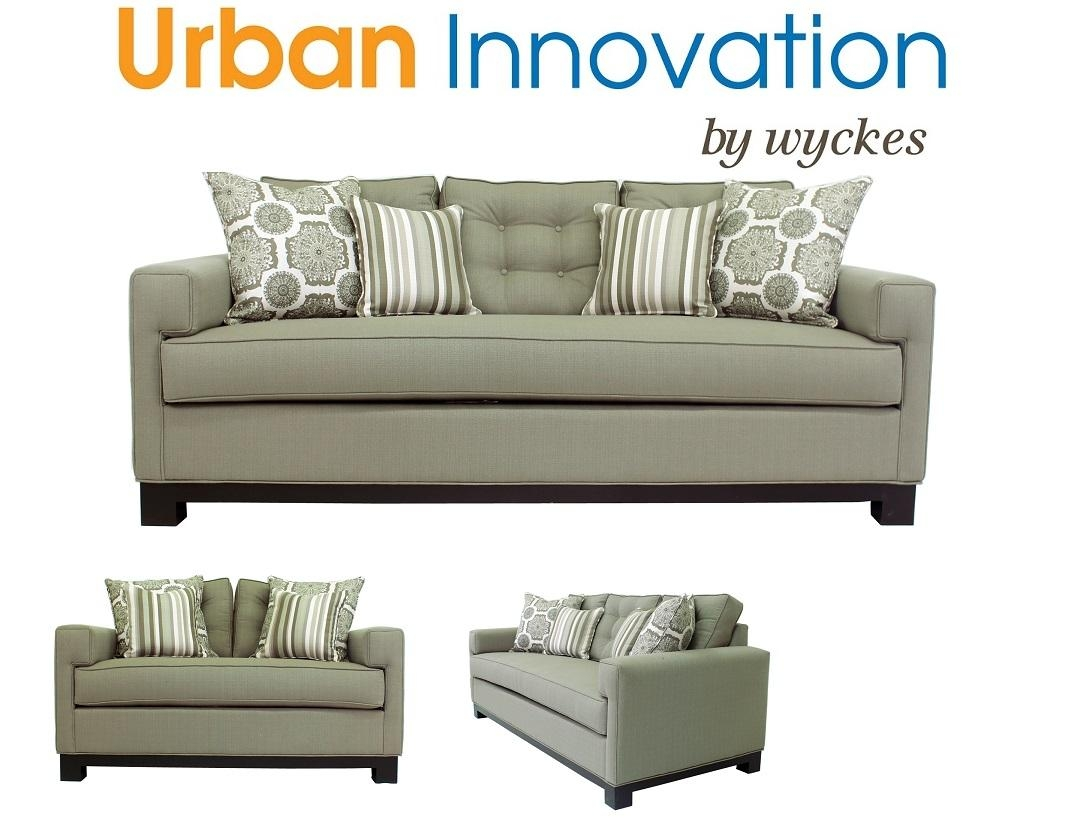 2130 Custom Urban Innovation Made In The Usa Sofa Loveseat intended for Bench Cushion Sofas