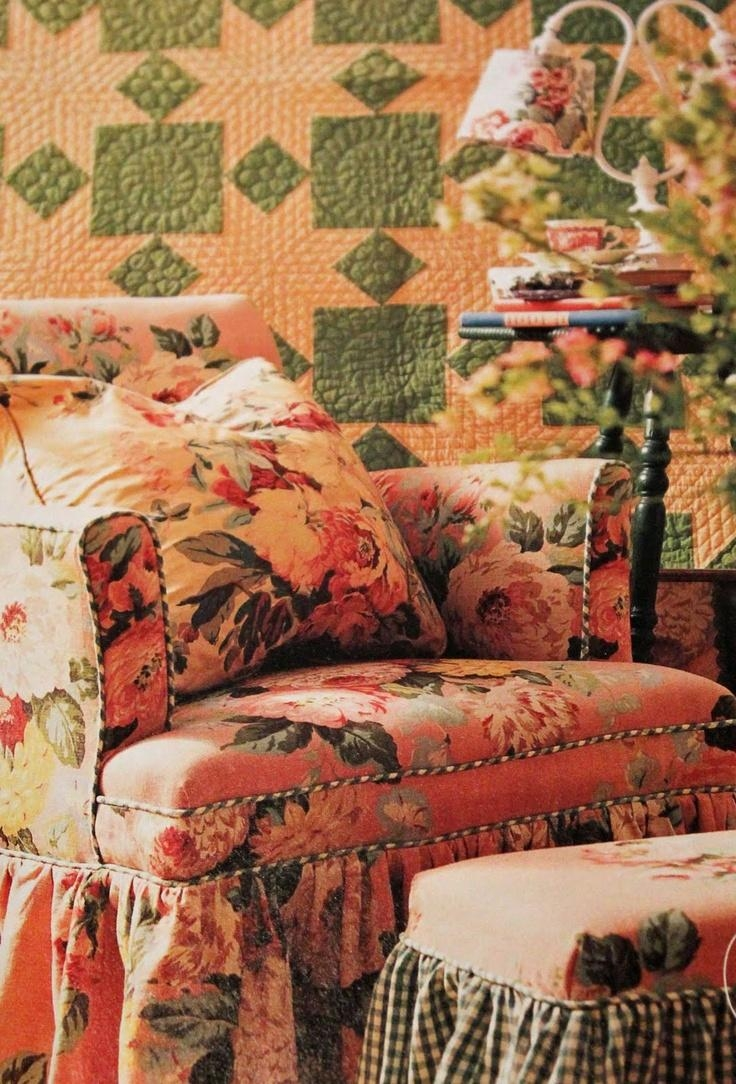216 Best Chintz Images On Pinterest | Floral Prints, Floral Chair throughout Chintz Covered Sofas