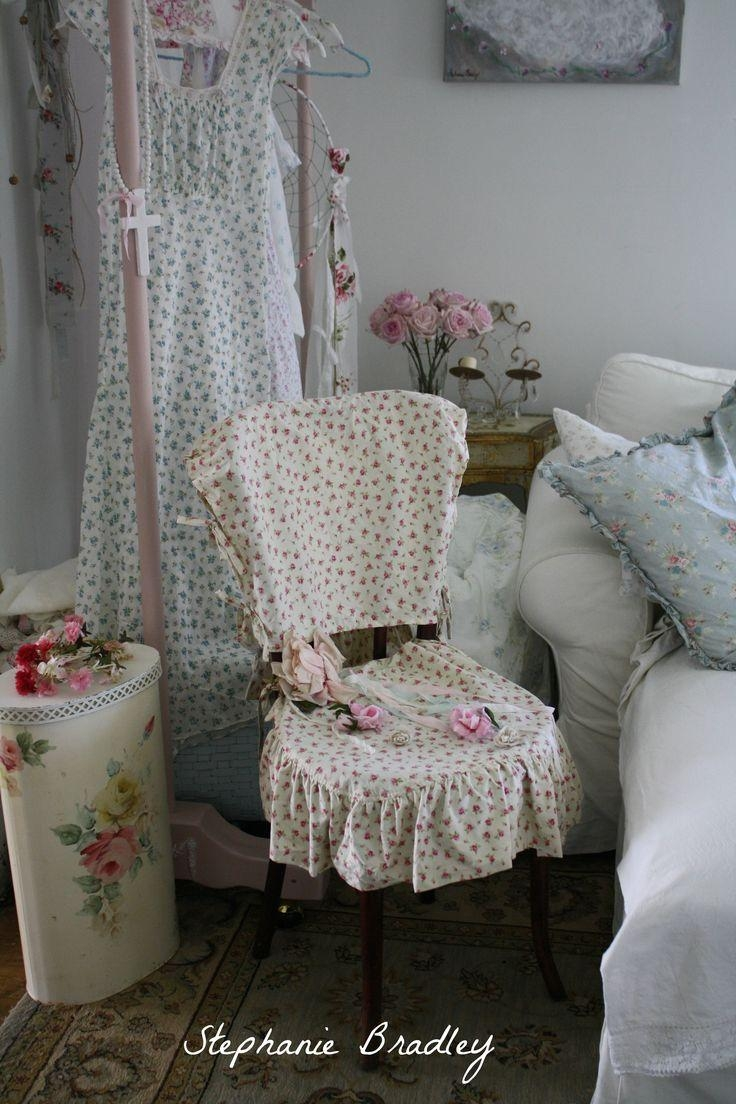 234 Best Slipcovers Images On Pinterest | Chairs, Chair Covers And Throughout Shabby Chic Sofas Covers (Image 2 of 20)