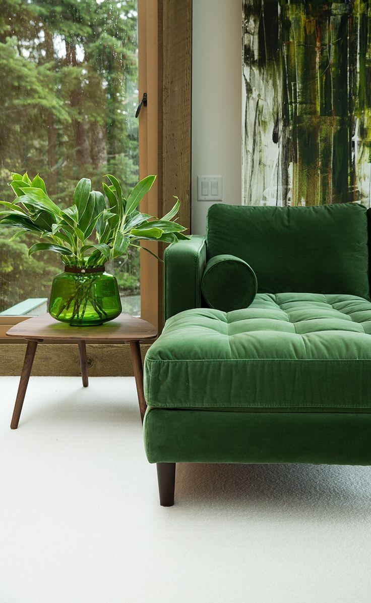 244 Best Shades Of Green Images On Pinterest | Colors, Color Pertaining To Emerald Green Sofas (View 19 of 20)