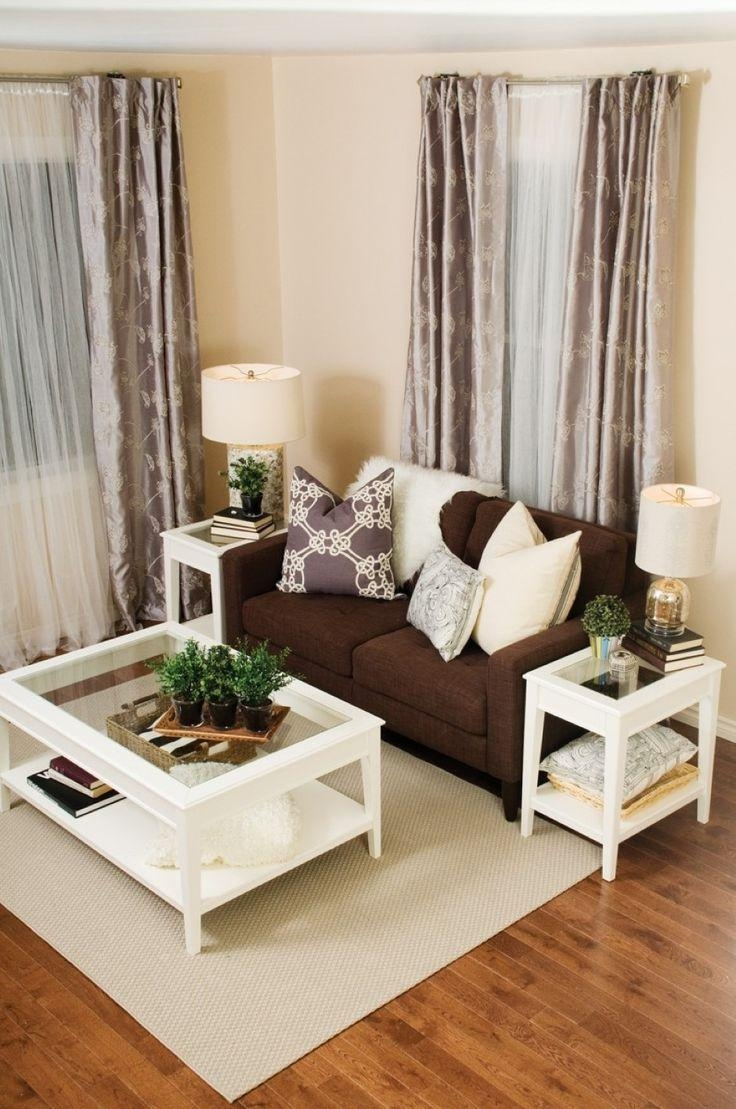 Featured Photo of Living Room With Brown Sofas