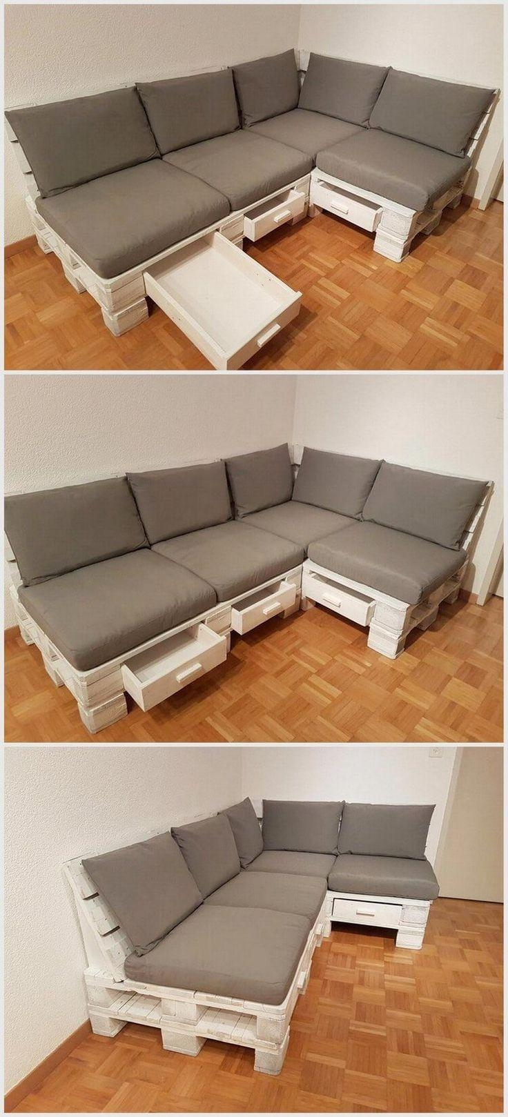 25+ Best Pallet Couch Ideas On Pinterest | Pallet Sofa, Pallet Intended For Pallet Sofas (Image 1 of 20)