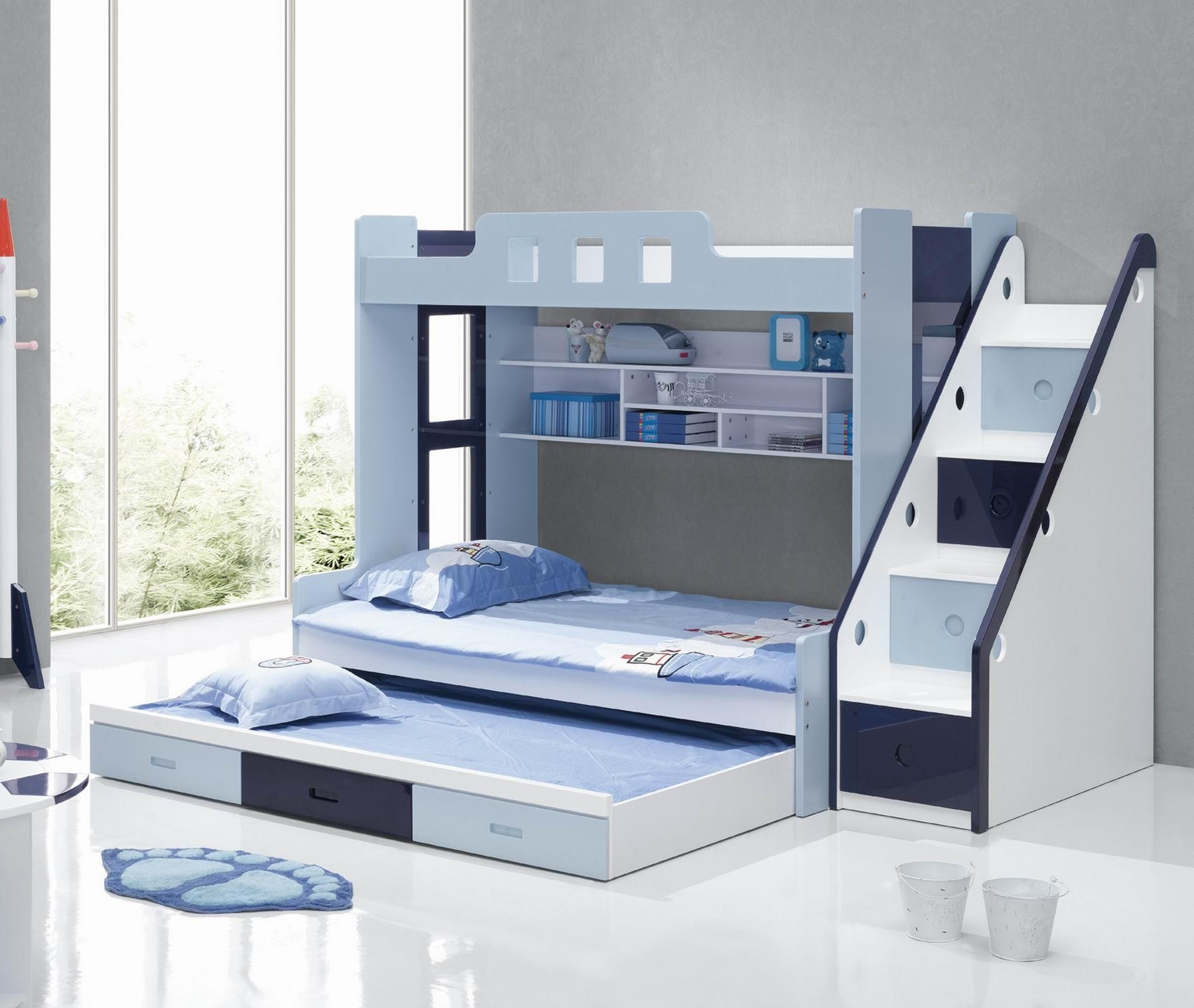 25 Diy Bunk Beds With Plans | Guide Patterns With Bunk Bed With Sofas  Underneath (