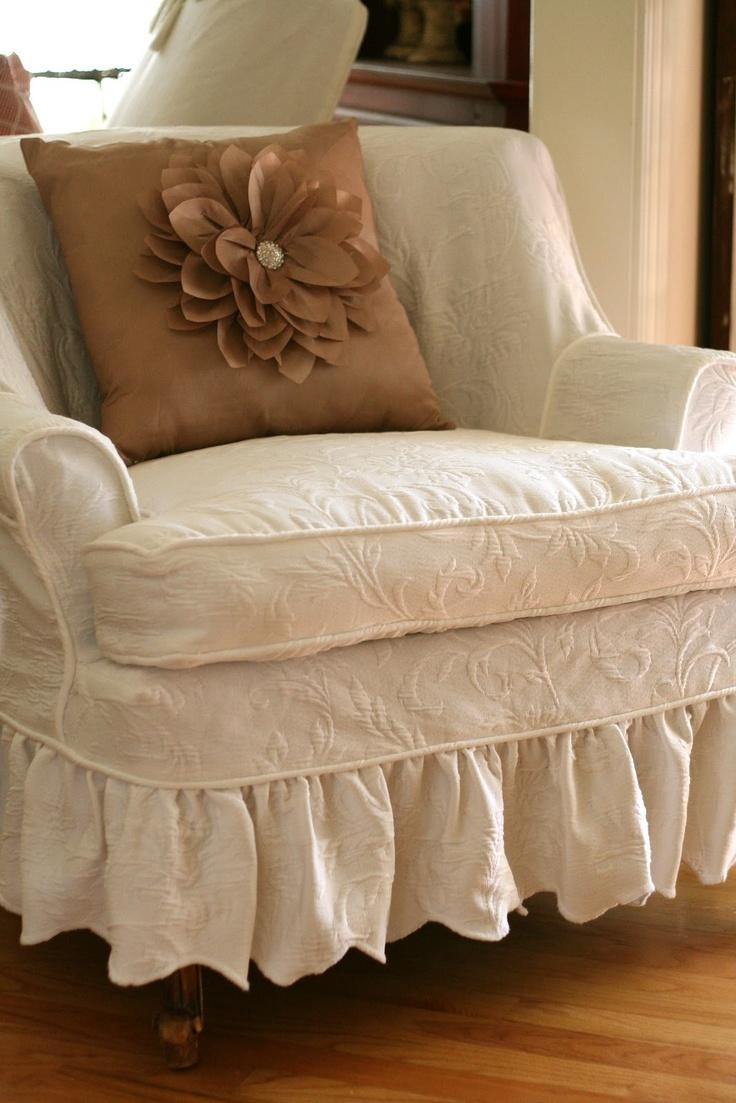 20 photos shabby chic slipcovers sofa ideas. Black Bedroom Furniture Sets. Home Design Ideas
