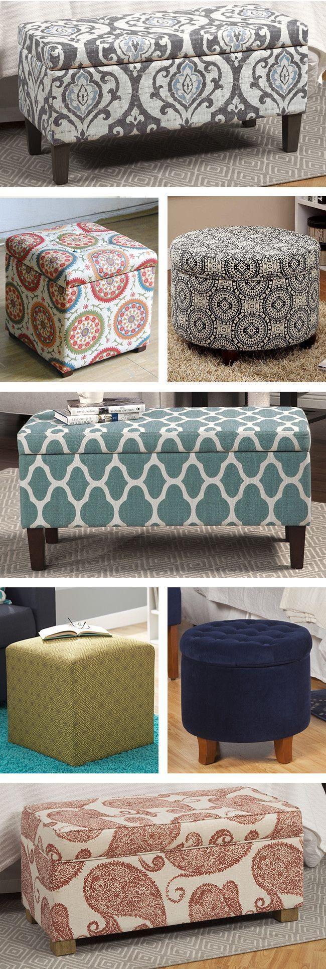 279 Best Ottoman – Pouf – Foot Stool + Images On Pinterest Regarding Footstool Pouffe Sofa Folding Bed (Image 1 of 20)