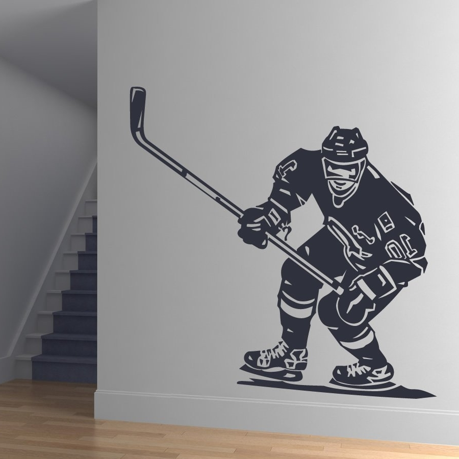 28+ [ Nhl Wall Stickers ] | Front Hockey Player Sports Wall Art With Regard To Sports Wall Decals (Image 1 of 9)