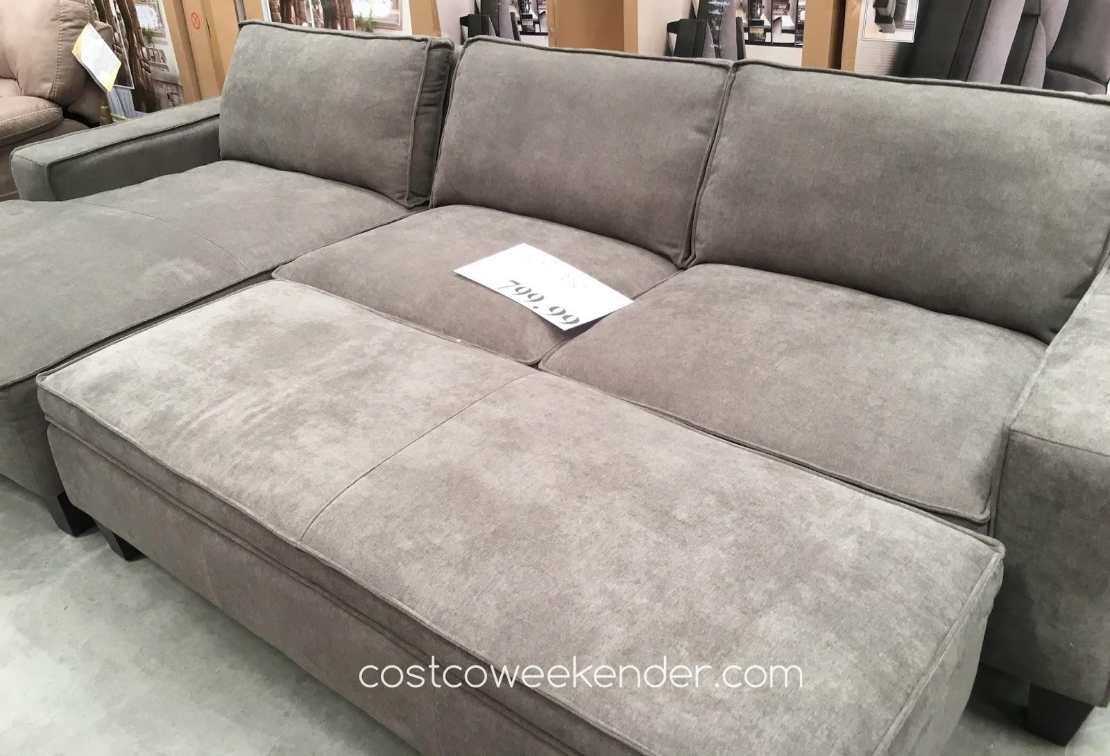 28+ [ Ottoman Couch ]   Chaise Sofa With Storage Ottoman Costco With Sectional With Ottoman And Chaise (Image 1 of 20)