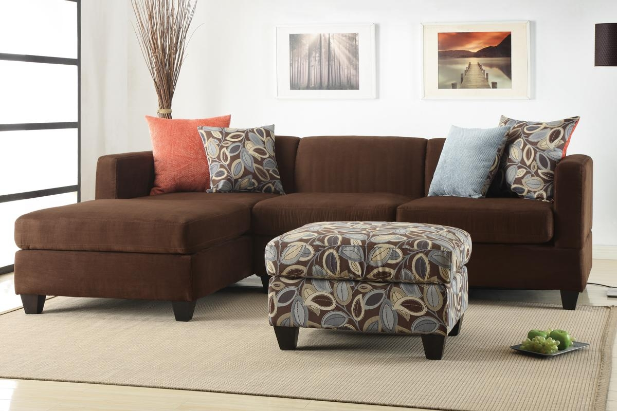2Pc Sofa Sectional With Ottoman ( Reversible Chaise) In Sectional Sofa With 2 Chaises (View 20 of 20)