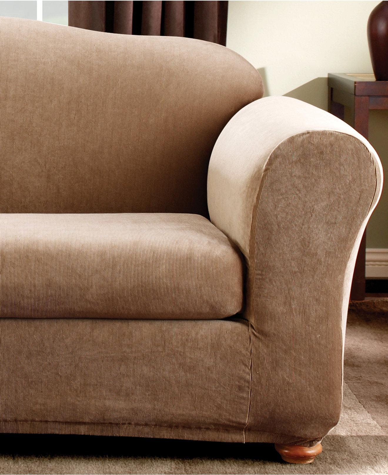 3 Piece Sofa Slipcover | Ira Design Within Loveseat Slipcovers 3 Pieces (View 2 of 20)