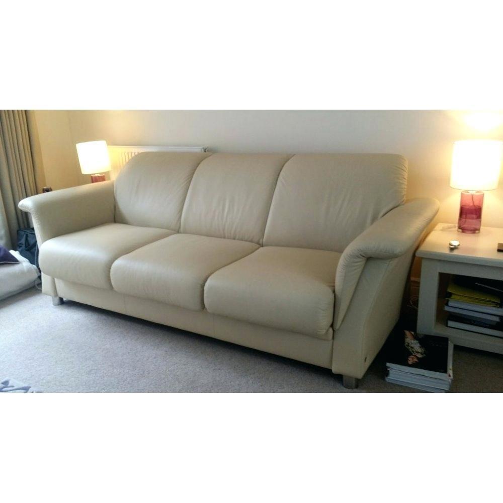 Vienna Leather Three Seater Sofa White: 20 Top 3 Seater Leather Sofas