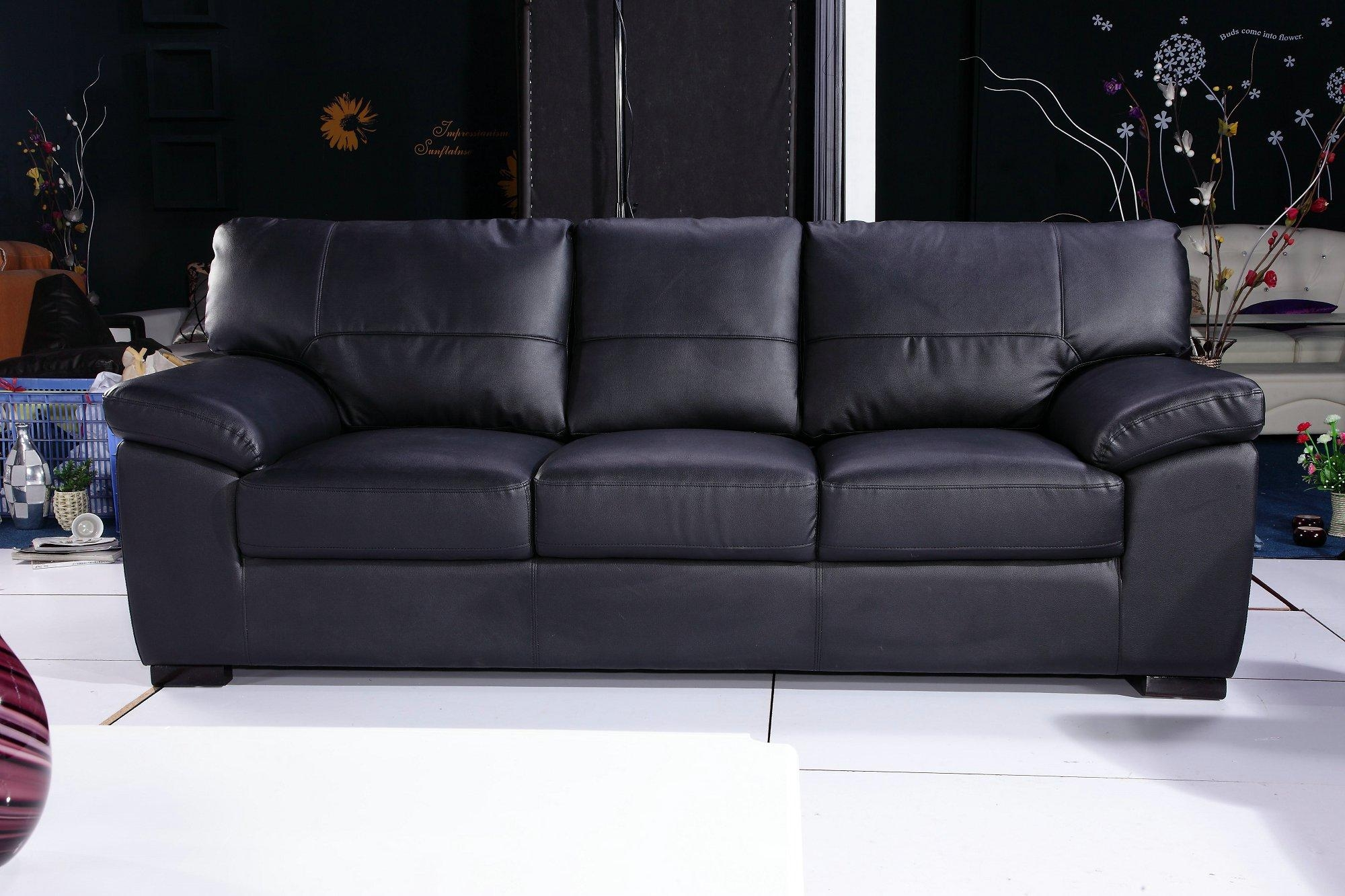 3 Seater Leather Sofas – Aftdth Inside 3 Seater Leather Sofas (Image 2 of 20)