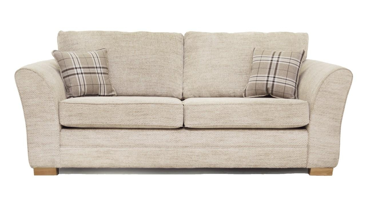 3 Seater Sofas & Settees | Fabric & Leather | Ahf With Regard To Three Seater Sofas (Image 1 of 20)