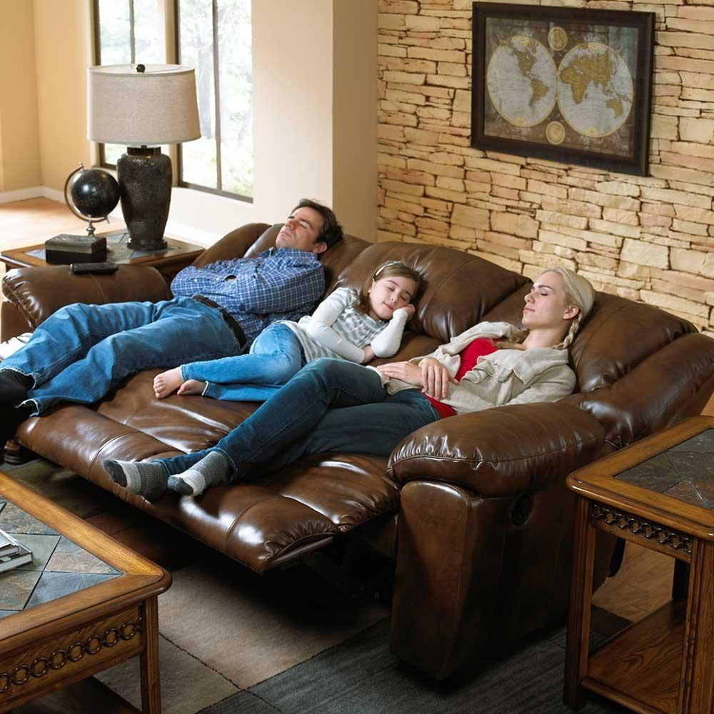 3 Way Reclining Sofa With Drop Down Table Throughout Catnapper Recliner Sofas (Image 2 of 20)