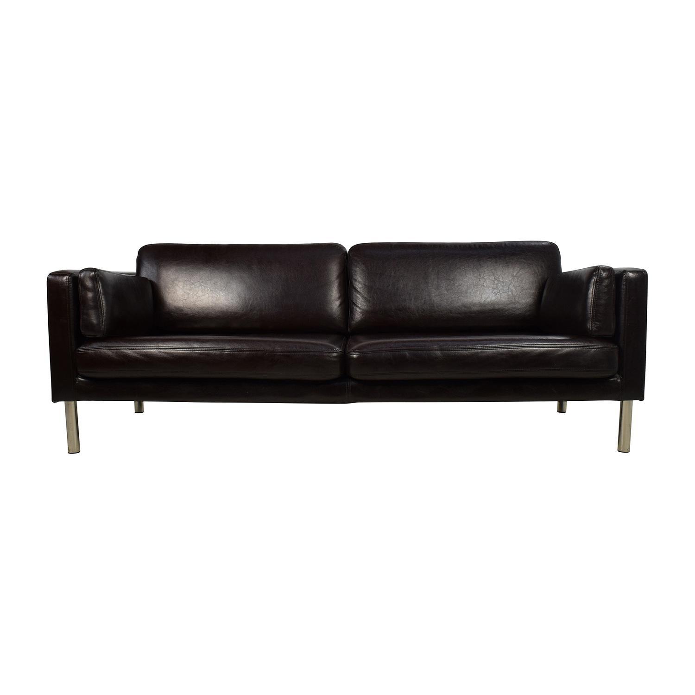 30% Off - Nicoletti Nicoletti Leather Green Sofa / Sofas with regard to Sofas With Chrome Legs
