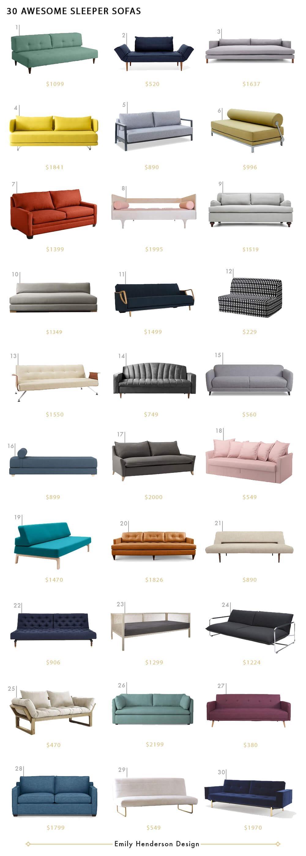 30 Sleeper Sofas We Love - Emily Henderson throughout Everyday Sleeper Sofas