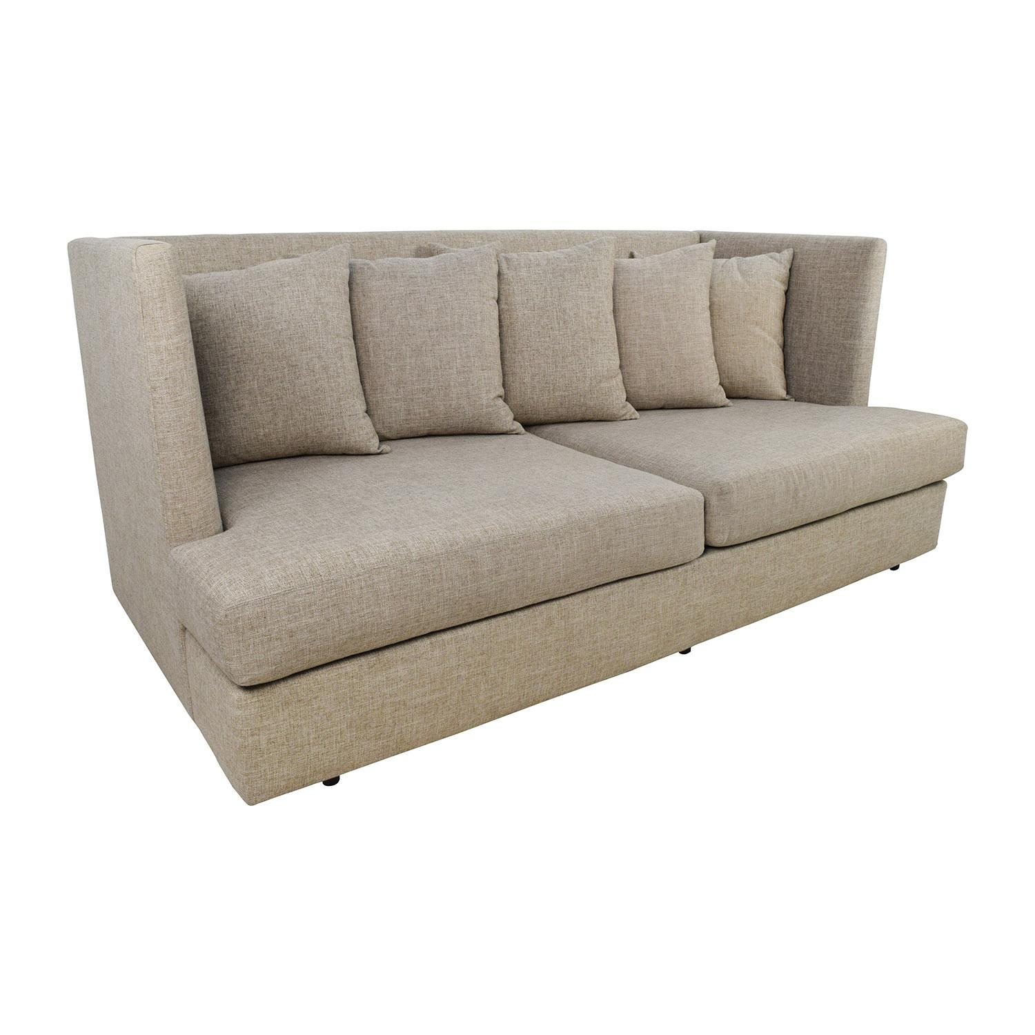 34% Off - Crate And Barrel Crate & Barrel Shelter Beige Couch / Sofas intended for Crate And Barrel Futon Sofas