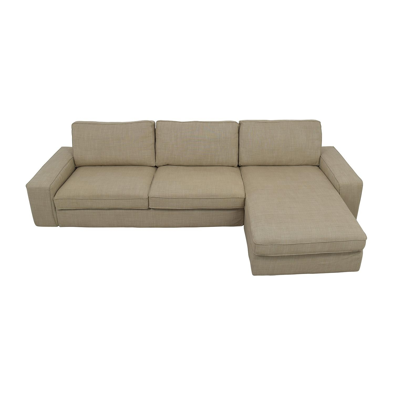 35% Off - Ikea Ikea Kivik Sectional In Hillared Beige / Sofas throughout Beige Sofas