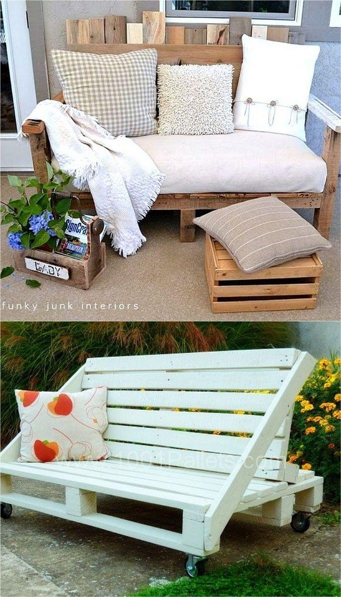356 Best Homethe Sea – Pallets Images On Pinterest | Pallet Regarding Pallet Sofas (Image 3 of 20)