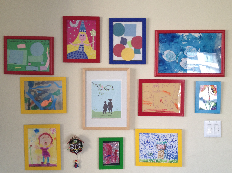 36 Kids Art Wall, 20 Interesting Ideas To Display Kids Artwork Inside Creative Kids Wall Art Ideas (Image 4 of 13)