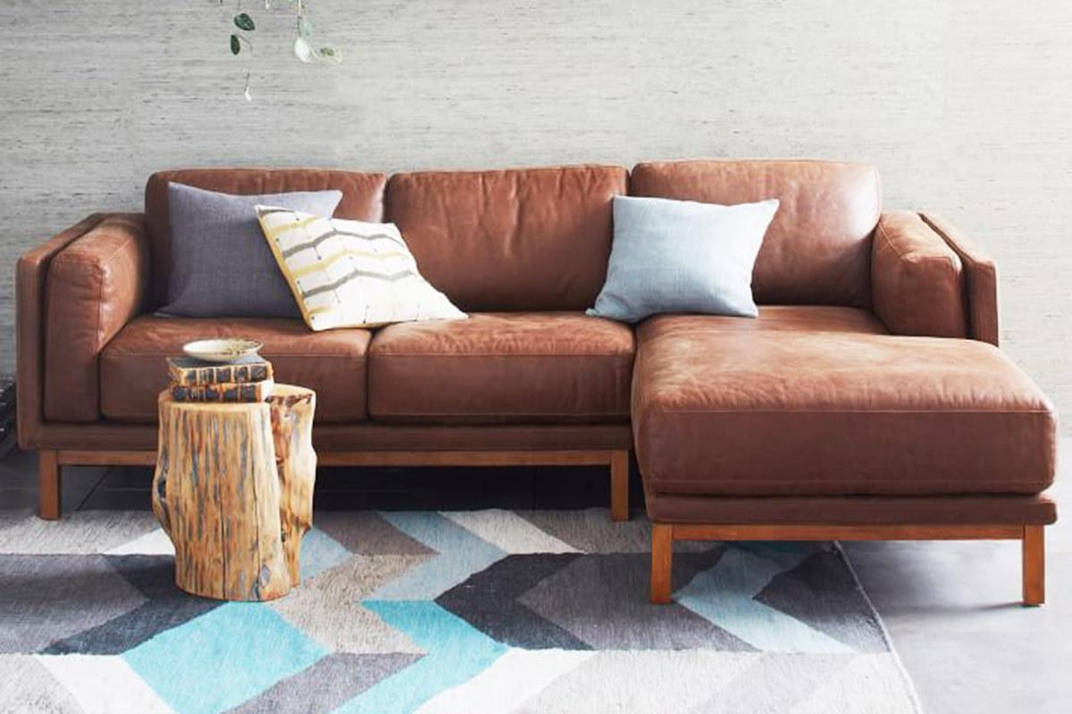 4 Modern Leather Sectional Sofas For A Better Living Room intended for West Elm Sectional Sofa