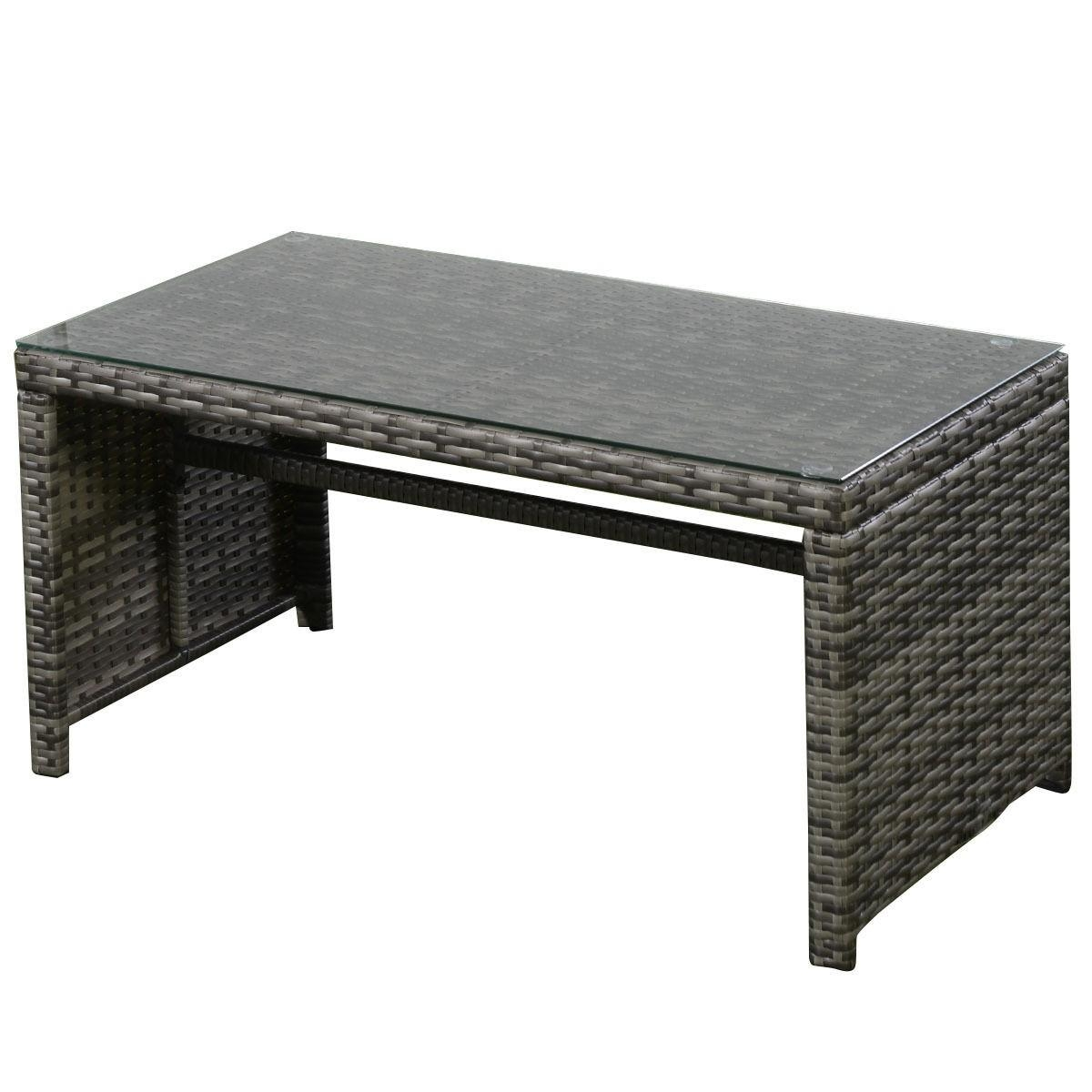 4 Pcs Goplus Outdoor Garden Sofa Furniture Set - Outdoor Furniture intended for Patio Sofa Tables