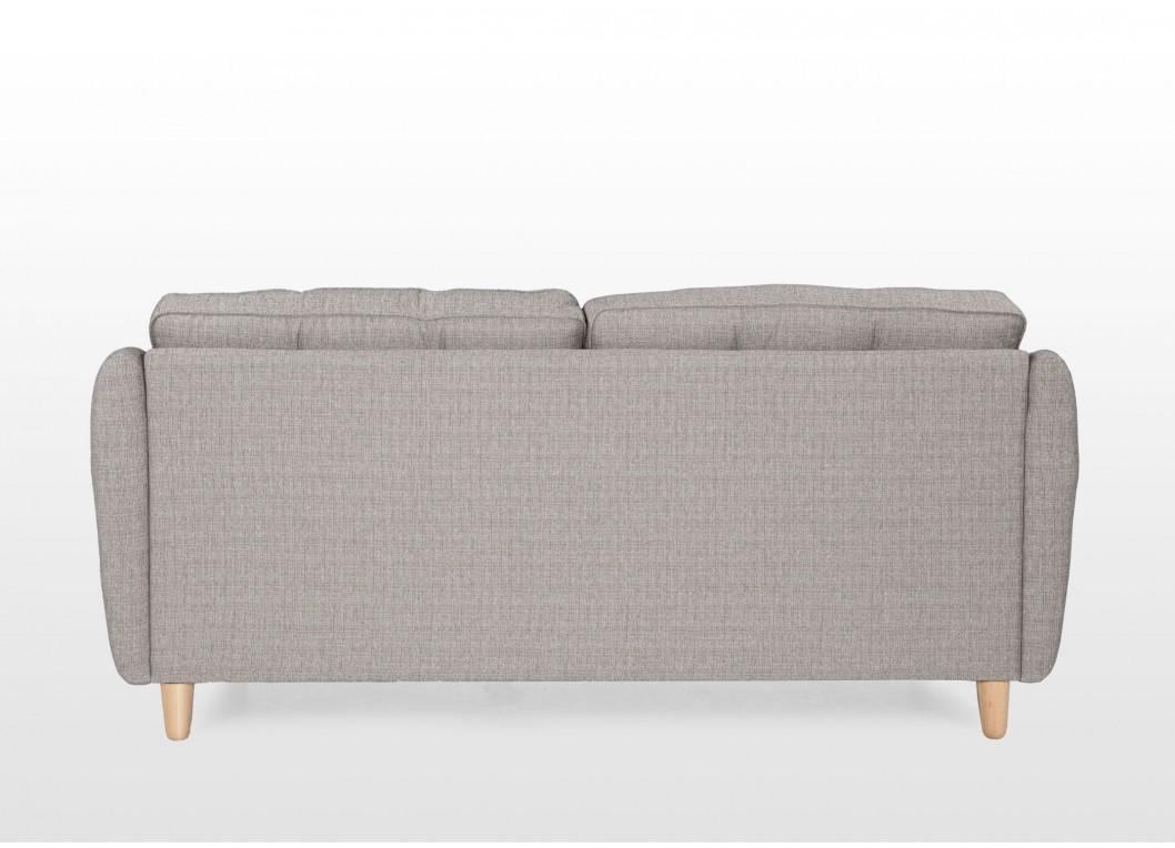 4 Seater Grey Fabric High Back Sofa - Lazio intended for High Back Sofas And Chairs