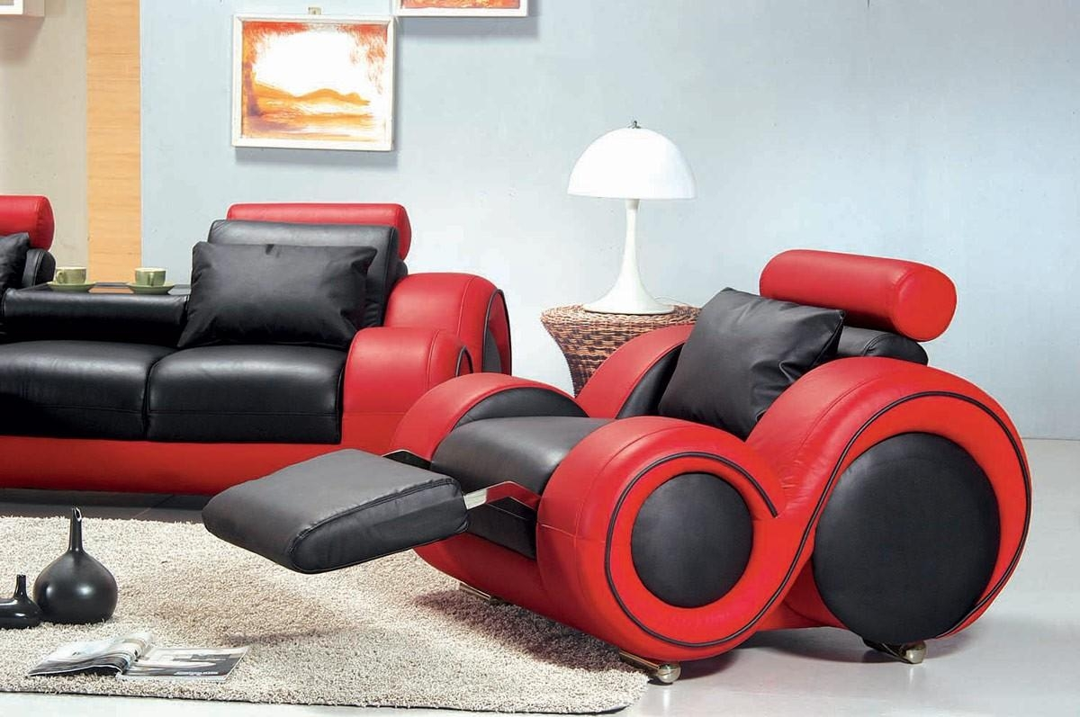 4088 – Contemporary Black And Red Sofa Set Throughout Sofa Red And Black (Image 2 of 20)