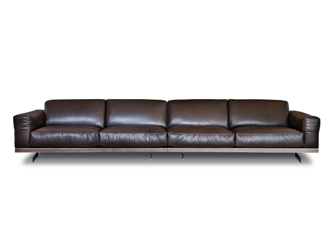 470 Fancy | Leather Sofavibieffe Design Gianluigi Landoni Regarding 4 Seat Leather Sofas (View 2 of 20)