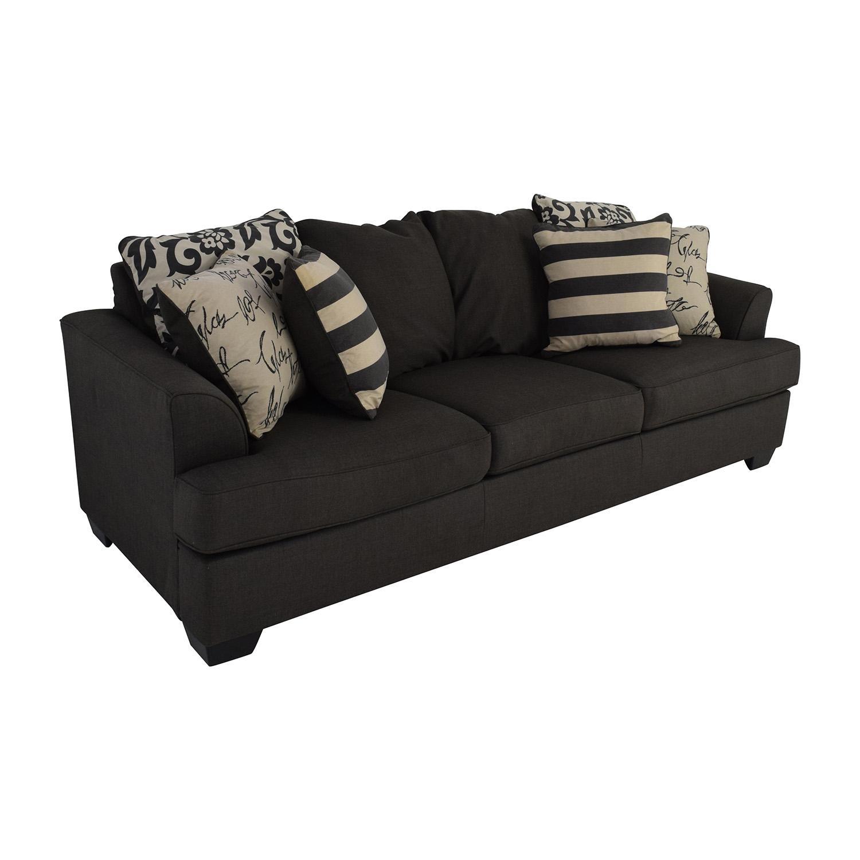 48% Off - Ashley Furniture Ashley Furniture Gray Fabric Sofa / Sofas with Fabric Sofas