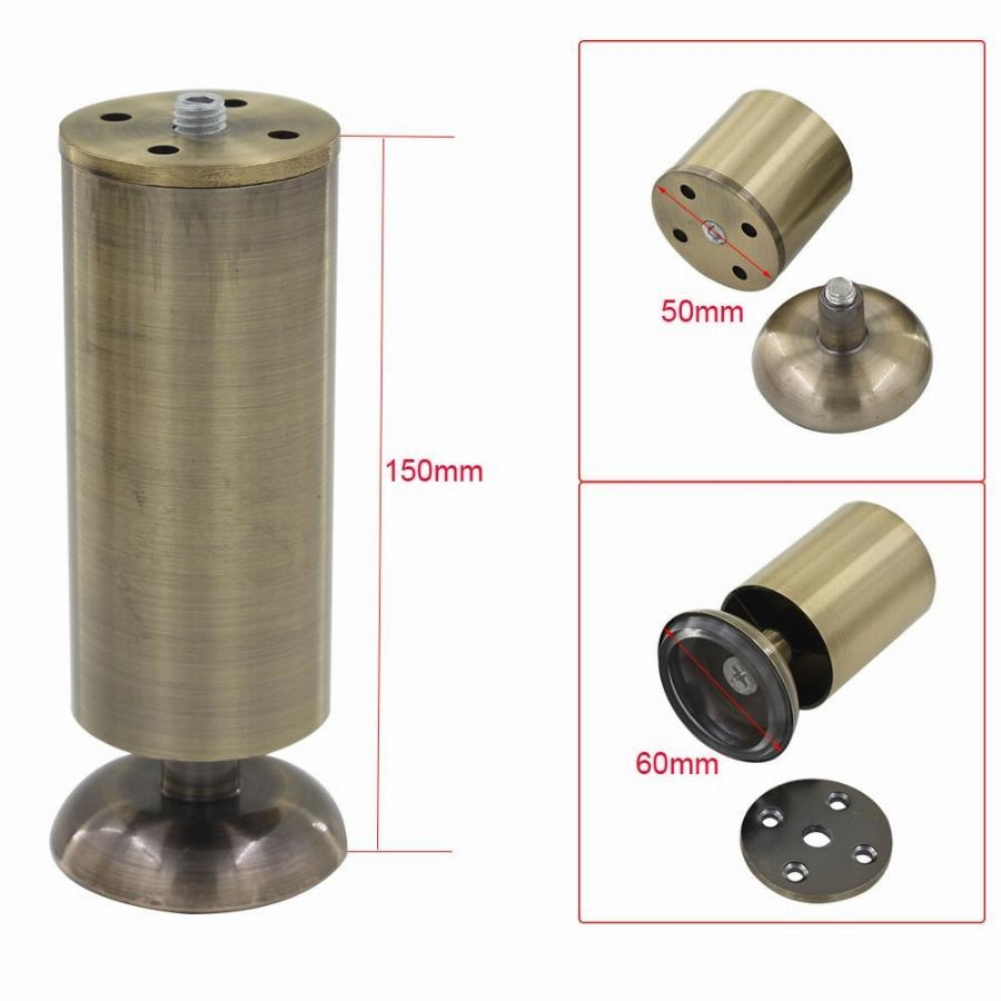 4Pcs 150Mm Height Adjustable Cabinet Legs Feet Bronze Aluminum with regard to Adjustable Sofa Legs