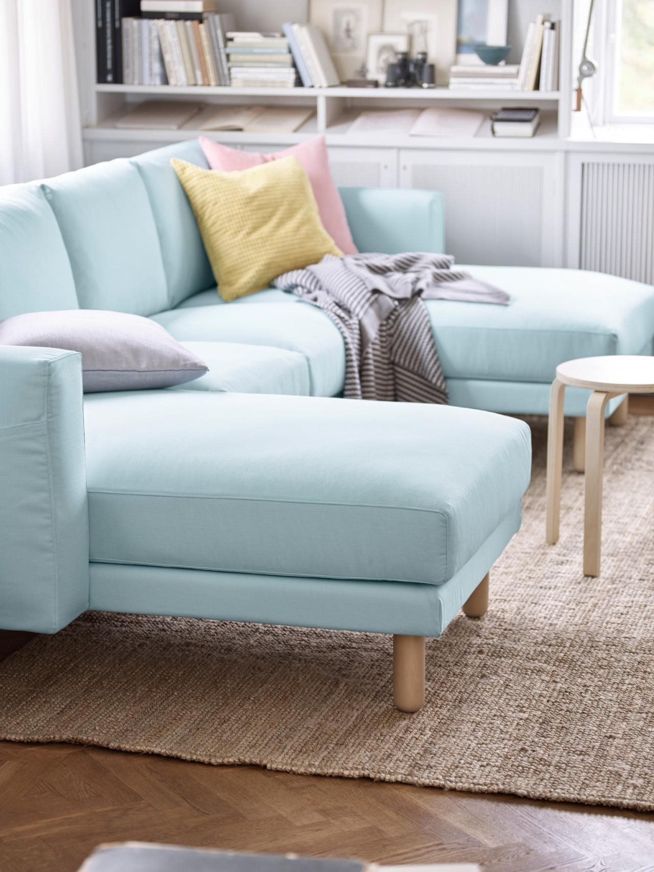 5 Apartment Sized Sofas That Are Lifesavers | Hgtv's Decorating with regard to Narrow Depth Sofas